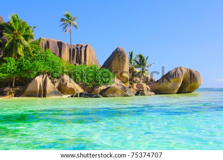 Exotic Peace Scene - stock photo