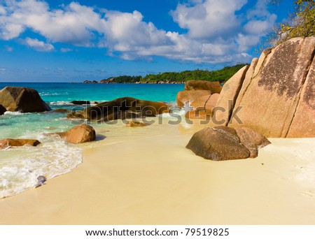 Exotic Waves Island - stock photo