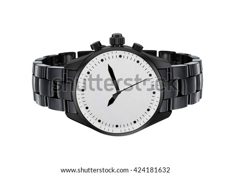 expensive and modern watch isolated