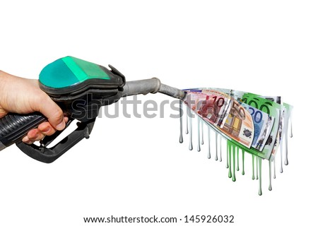 Expensive fuel ! - stock photo