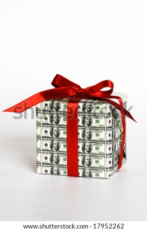 expensive gift - stock photo