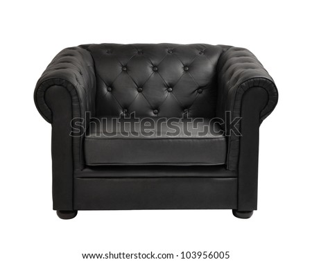 expensive leather arm chair