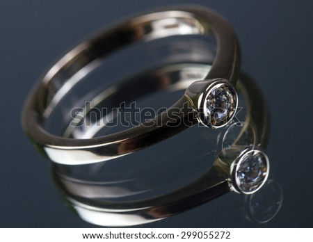 expensive wedding ring - stock photo
