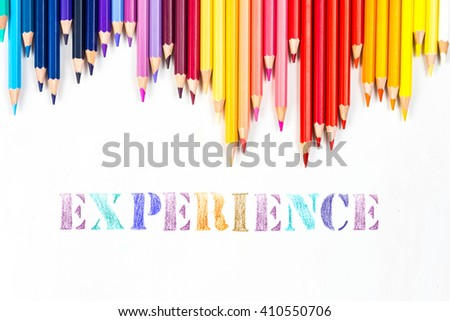 Experience drawing by colour pencils