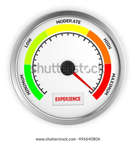 experience level to maximum conceptual meter, 3d rendering