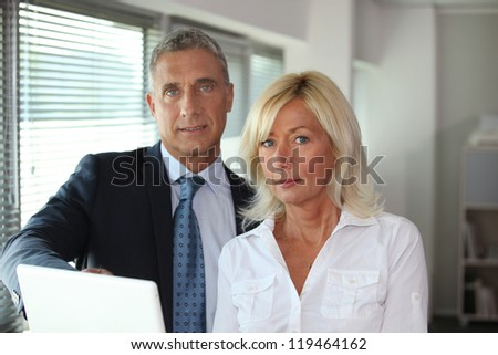 Experienced business partners - stock photo