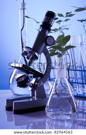 Experimenting on plants, super growth - stock photo