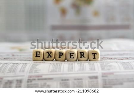 Expert - stock photo
