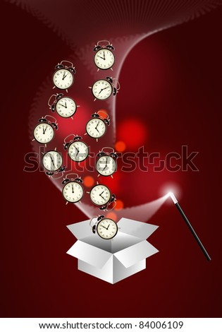 Expert time management system concept - vertical - stock photo