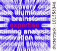 Expertise Word Showing Skill Training And Knowledge - stock photo