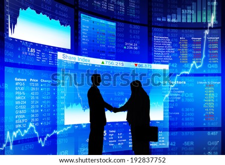 Experts Agree Stock Exchange Launch Successful - stock photo