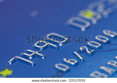 Expired date - Credit Card Close up