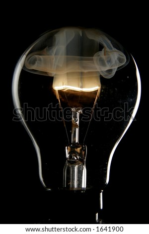 Exploding bulb - stock photo