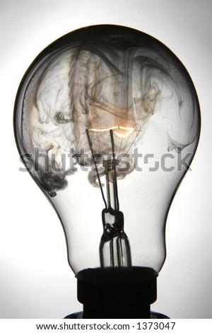 Exploding lightbulb - stock photo