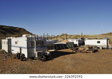 Exploration Mining Camp - Australia - stock photo