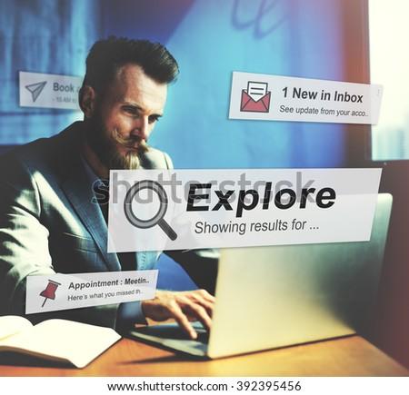 Explore Exploring Experience Travel Adventure Concept - stock photo