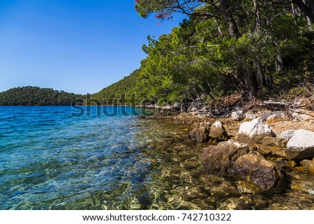 Exploring the beautiful island of Mljet - so seductive with its greenery that they made a National park on it back in 1960.