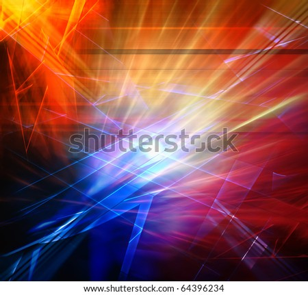 Explosion, abstract background - stock photo