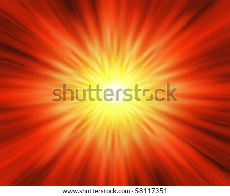 Explosion, abstract background, fiery effect
