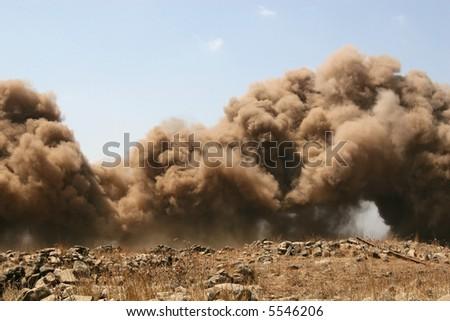 Explosion at war - stock photo