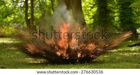 explosion busting - stock photo