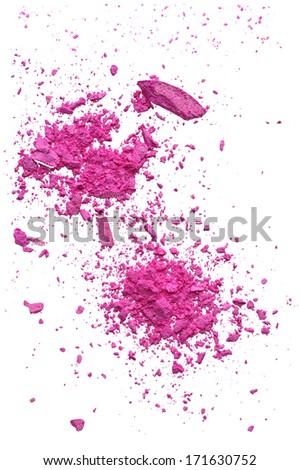 Explosion makeup pink powder  - stock photo