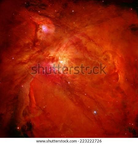 explosion of a supernova illustration - stock photo