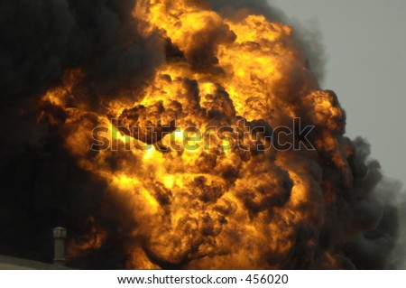 Explosions Rock Fort Worth Texas Chemical Plant. - stock photo