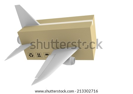 Express airmail delivery and global shipping concept - stock photo