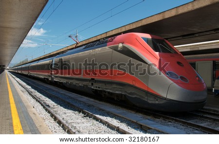 Express train in station - stock photo