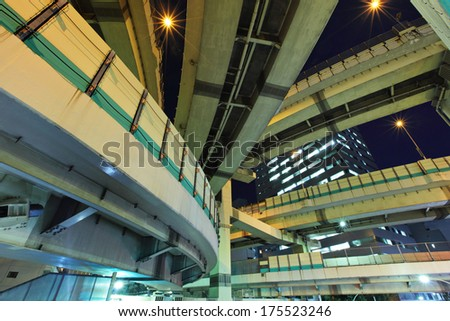 Expressway in Tokyo - stock photo