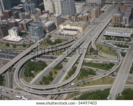 expressway interchange from the air