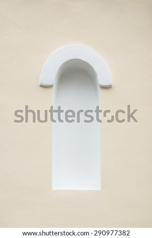 Extended arch wall niche - stock photo