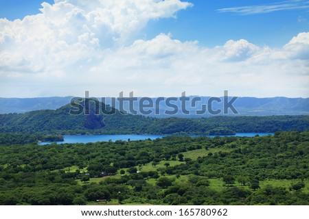 extensive valley near Managua. Central America, Nicaragua - stock photo