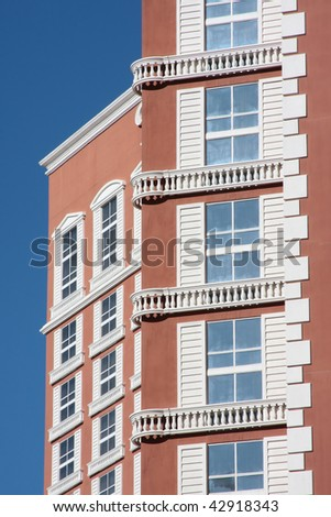 Exterior details of a luxury hotel in Las Vegas - stock photo