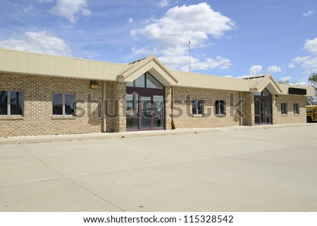 exterior of a childcare or daycare building - stock photo