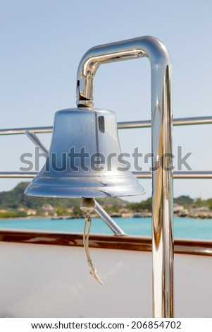 exterior of a luxury sail boat in the port  of Zante   - stock photo