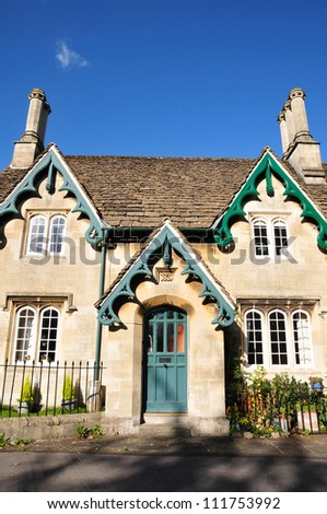 Exterior of a Victorian Era English Cottage - stock photo