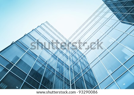exterior of glass residential building
