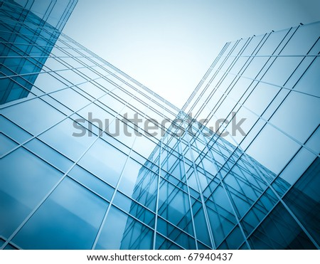 exterior of glass residential part - stock photo