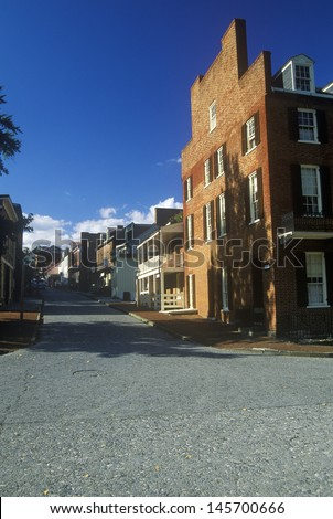 Exterior of Harpers Ferry, WV - stock photo