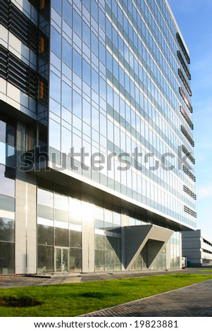 Exterior of modern office building - stock photo