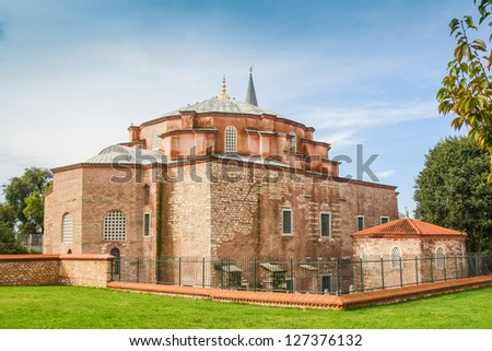 Exterior of the little Hagia Sophia, also known as the Kucuk Aya Sofya, in Istanbul, Turkey - stock photo