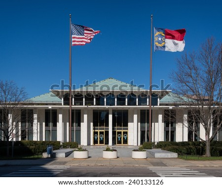 Exterior of the State Legislative building in Raleigh, North Carolina  - stock photo