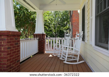 Exterior Patio/Porch and Yard - stock photo