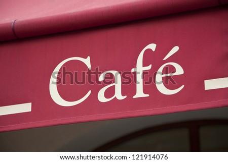 Exterior shot of a Cafe - stock photo