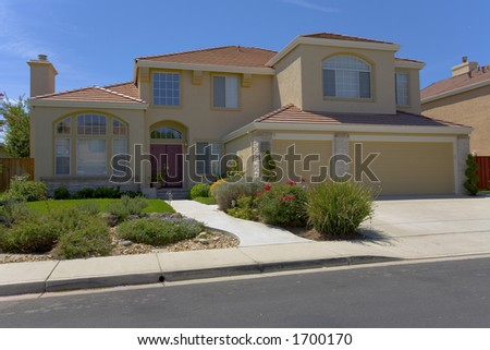 Landscaping Ranch Style Homes Stock Photos Illustrations And Vector