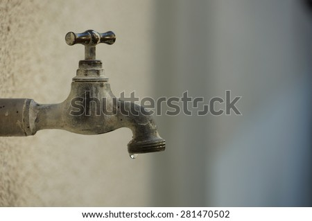 Exterior Tap Water Dripping Tap Water Stock Photo (Royalty Free ...