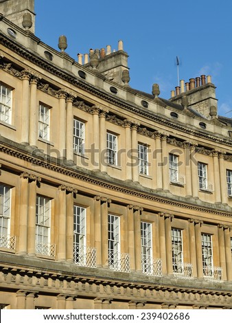 Exterior View of the Royal Circus in the City of Bath in Somerset England -  The