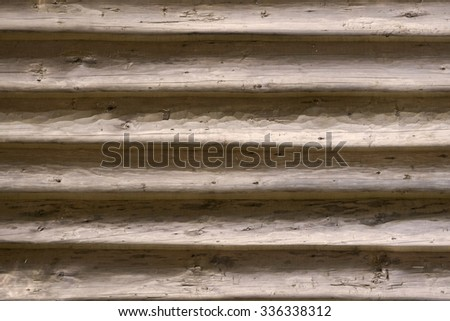 exterior wall log background - stock photo